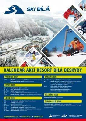 Kalendář Ski areál Bílá 2020